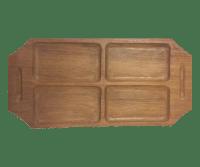 Danish Modern Teak Wood Serving Tray | Chairish