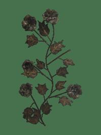 Vintage Bronze Metal Floral Wall Art | Chairish