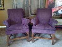 Baker Living Room Chairs - a Pair   Chairish