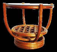 Vintage Rattan Bentwood Coffee Table | Chairish