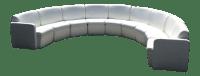 Modern Semi-Circular Modular Sofa Sectional   Chairish