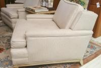 Mid-Century Low Profile Arm Chairs - A Pair | Chairish