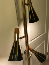 Raymond Loewy for Stiffel Brass Tension Pole Lamp | Chairish