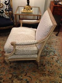 French Louis XVI Style Leopard Fauteuil Chair | Chairish