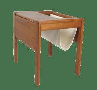 Danish Modern Teak Side Table With Magazine Rack | Chairish