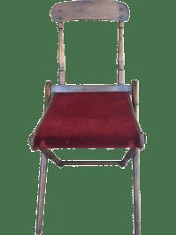 Antique Campaign Folding Chair | Chairish