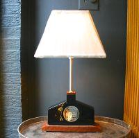 Modern Black & Silver Vase Lamp | Chairish