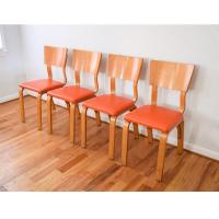 Mid-Century Thonet Bentwood Plywood Chairs - Set of 4 ...