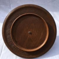 Midcentury Modern Copper and Teak Wood Lazy Susan | Chairish