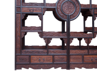 Chinese Rosewood Display Curio Cabinets - A Pair | Chairish