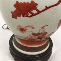 "Chinese Toile ""La Famille"" Ginger Jar Lamp 