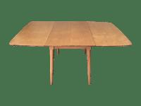 Mid-Century Modern Drop Leaf Wood Table | Chairish
