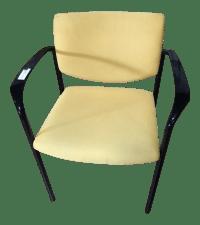 Mid-Century Modern Style Creamy Yellow Upholstered ...