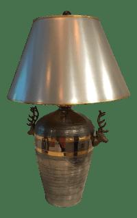 Vintage Chapman Deer Head Table Lamp   Chairish