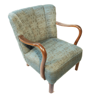 Antique Danish Art Deco Lounge Chair