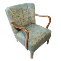 Antique Danish Art Deco Lounge Chair | Chairish