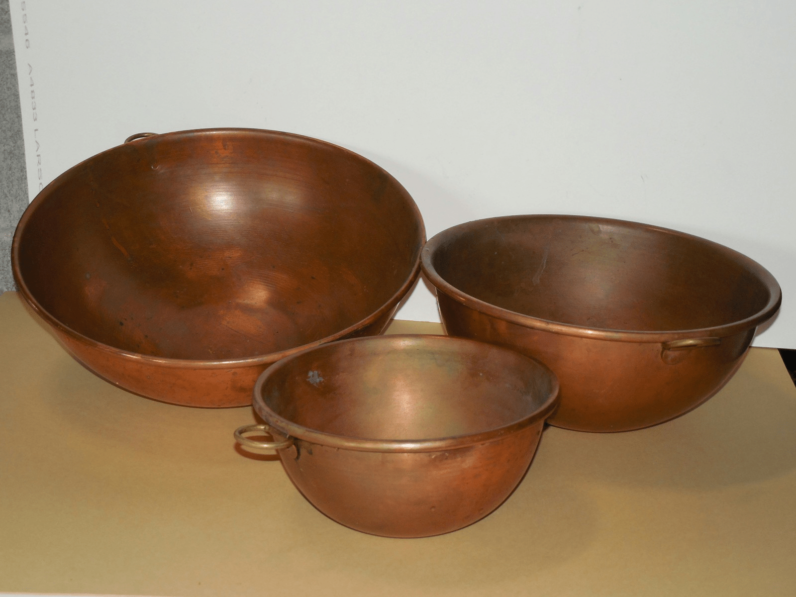 Vintage French Copper Mixing Bowls Set Of 3 Chairish