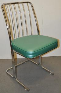 1950s Chrome & Vinyl Kitchen Chairs - Set of Four   Chairish