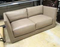 Donghia Modern Leather Sofa | Chairish