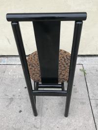 1980s Black Cheetah Print Dining Chairs - Set of 4 | Chairish