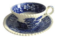 Vintage Blue Willow Teacup & Saucer | Chairish