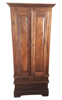 Small Solid Wood Armoire or Wardrobe | Chairish