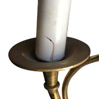 Brass Hunt Horn Sconces - a Pair | Chairish