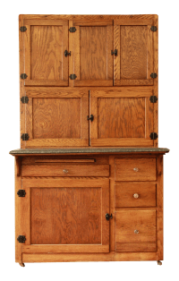 Antique Oak Hoosier Cabinet | Chairish