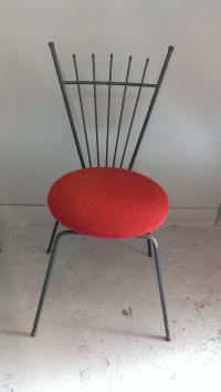 Mid Century Modern Wrought Iron Chairs - Pair | Chairish