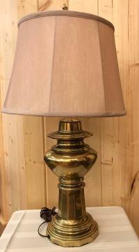 Mid-Century Brass Table Lamp | Chairish