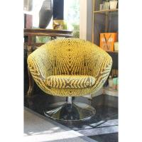 Mancini Funk Yellow Swivel Chair | Chairish