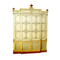 Moderne Polychrome Breakfront Cabinet   Chairish