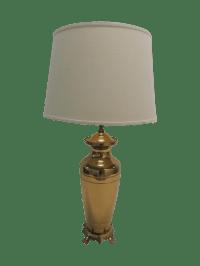 Hollywood Regency Brass Ginger Jar Table Lamp | Chairish