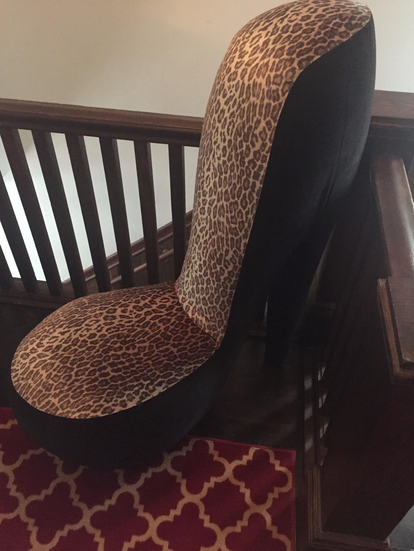 Leopard Print High Heel Shoe Chairs A Pair Chairish