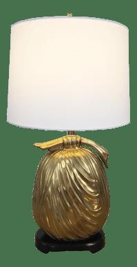 Mid-Century Brass Asian Style Bundle Table Lamp | Chairish