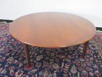 Danish Modern Round Coffee Table | Chairish