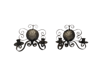 Spanish Revival-Style Candle Sconces- A Pair | Chairish