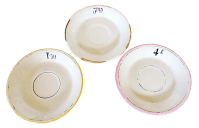 French Bistro Plates - Set of 3 | Chairish