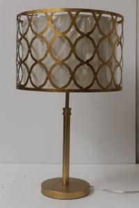 Modern Gold Metal Table Lamp | Chairish