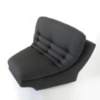 Vladimir Kagan Black Lounge Chair | Chairish