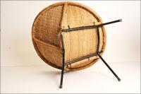 Mid-Century Modern Wicker Hoop Chair   Chairish