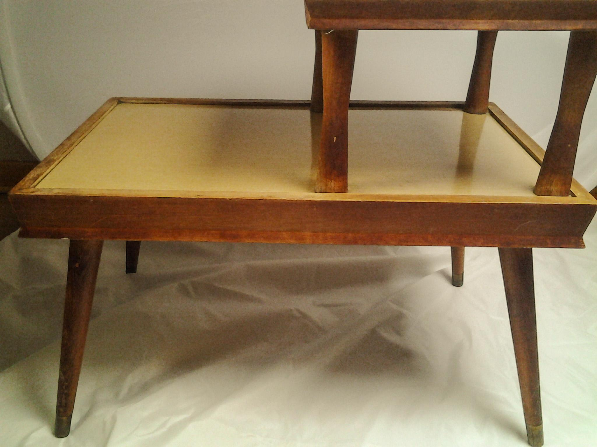 Vintage Mid Century 2 Tier Side Table Chairish