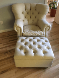 Restoration Hardware Churchill Upholstered Chair and ...