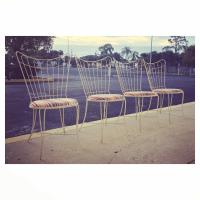 Homecrest Wire Patio Chairs - Set of 4 | Chairish