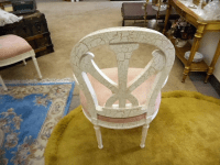 White Crackle-Painted Captain's Chair | Chairish