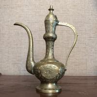 Antique Brass Genie Lamp Ewer | Chairish