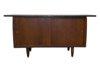 Mid-Century Modern Wood Console Cabinet Credenza | Chairish