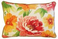 Jewel-Tone Floral Lumbar Pillows - a Pair | Chairish