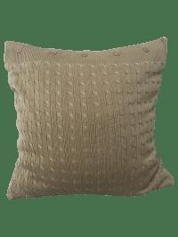 Ralph Lauren Cotton Cable-Knit Throw Pillow | Chairish