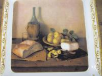 Italian Still Life Cheese Plate | Chairish